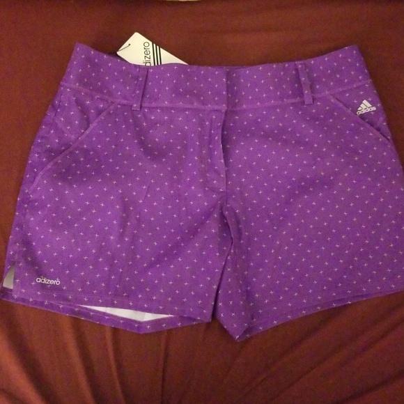 adidas purple golf shorts